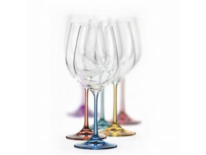 Crystalex barevné sklenice na víno Spectrum 350 ml