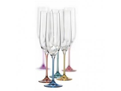 Crystalex barevné sklenice na sekt Spectrum 190 ml