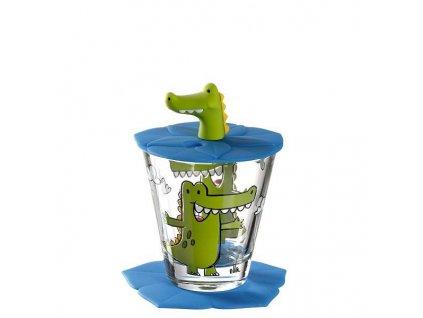 Leonardo Dětská skleničky krokodýl