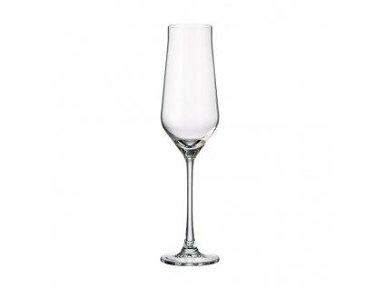crystalite bohemia sklenice sampanske sekt alca fletna 220 ml