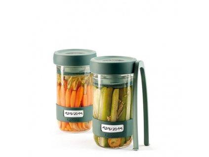 lekue sada sklenenych sklenic na kvaseni kit pickles