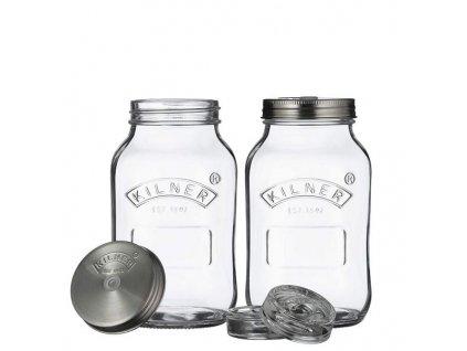 kilner sada sklenic na kvaseni fermentaci sklenene pickles kimchi