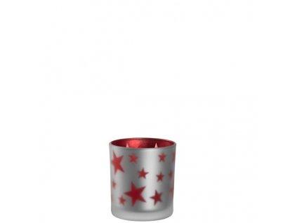 leonardo svicinek svicen skleneny s hvezdami cervena red stars