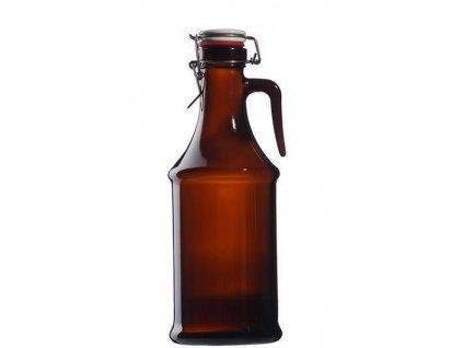 schmit pivni lahev s uzaverem tmave sklo nuremberg 2 l