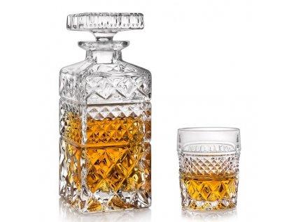 Crystal Bohemia Madison whisky set