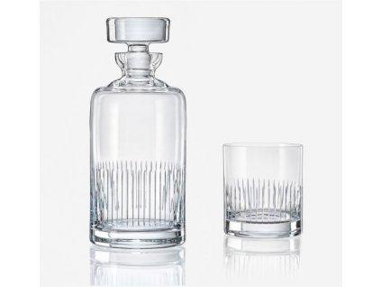 crystalex whisky set Bohemia 1+2