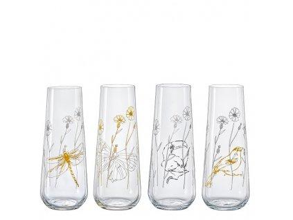 crystalex sklenice na prosecco meadow 4 ks