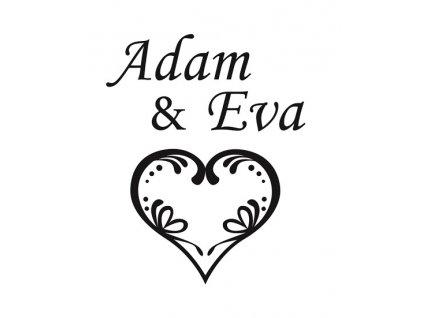 Pískování motivu Malované srdce s datem svatby na dýnku sklenice