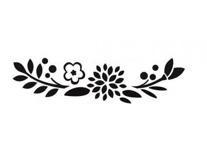 Květy pískování obrázku