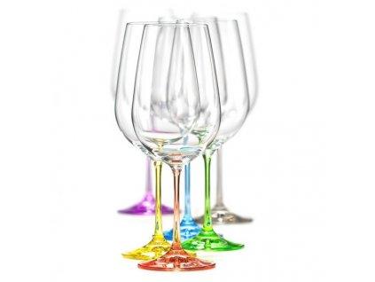Crystalex Sklenice na víno Viola Rainbow 550 ml