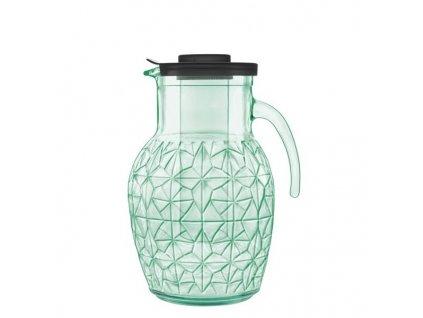 Luigi Bormioli Skleněný džbán zelený PREZIOSO 2,5 l