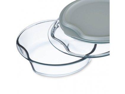 Simax Pekáč kulatý se skleněným a plastovým víkem 2,5 l