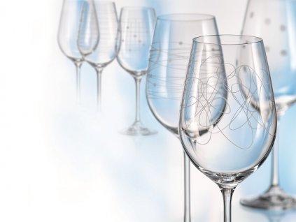Crystalex Sklenice na víno VIOLA ELEMENTS 450 ml