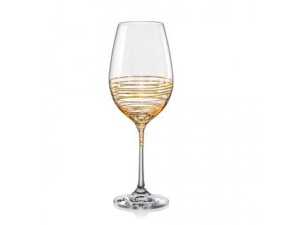 crystalex dekorované sklenice na víno viola spiral 350 ml eshop