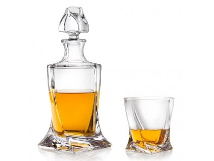 Crystalite Bohemia Quadro whisky set