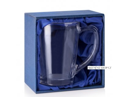 dárková krabička na hrnek Angelo modrý satén