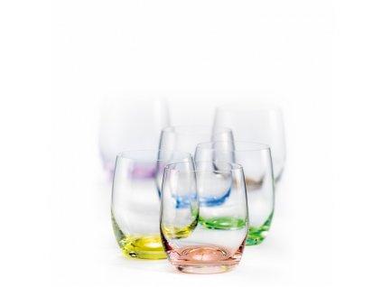 crystalex barevné sklenice club rainbow 300 ml