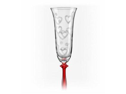 Crystalex Sklenice na šumivé víno Angela 1LOVE 190 ml