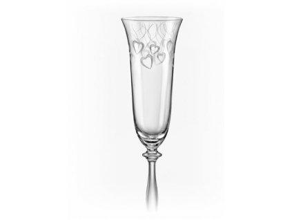 Crystalex Sklenice na šumivé víno Angela 2LOVE 190 ml