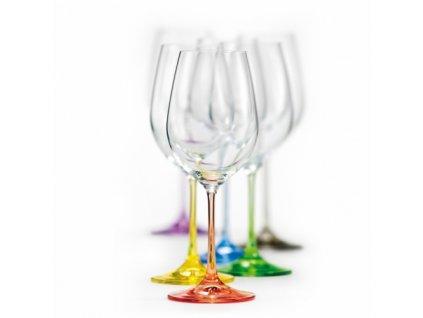 Crystalex Sklenice na víno VIOLA Rainbow 350 ml