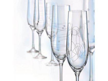 Crystalex Sklenice na šumivé víno VIOLA ELEMENTS 190 ml