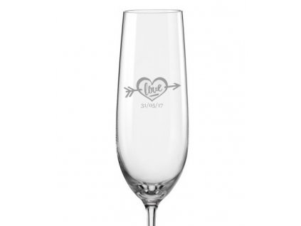 svatební sklenička LOVE s24 Viola 190 v
