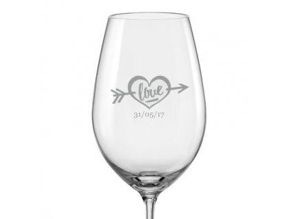 svatební sklenička na víno love s24 viola 350 v