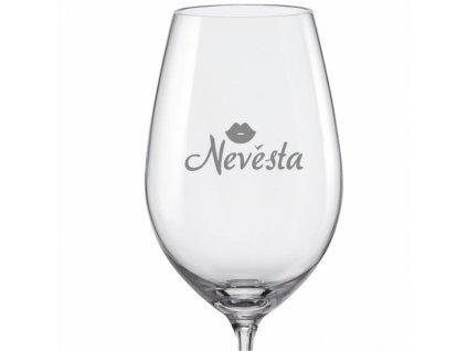 Svatební skleničky na víno Nevěsta