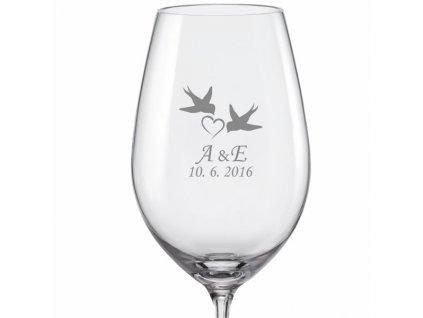 Svatební skleničky na víno Vlaštovky