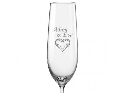 malované srdce svatební skleničky s15Viola 190 v