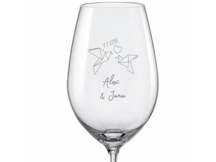 svatební skleničky origami viola 350 v