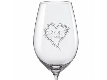 svatební skleničky srdce z větviček viola 350 v