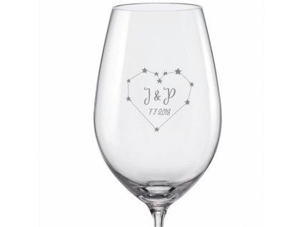 svatební skleničky souhvězdí srdce viola 350 v