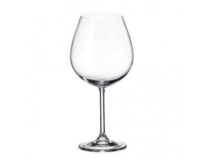 crystalite bohemia sklenice na červené víno colibri 650 ml
