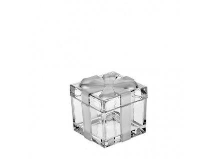 crystal bohemia dóza dárková krabička 72 mm