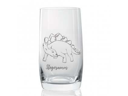 sklenička s dinosaurem Stegosaurus