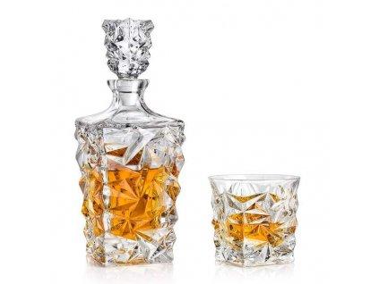 Bohemia Jihlava Glacier whisky set křišťálové sklo