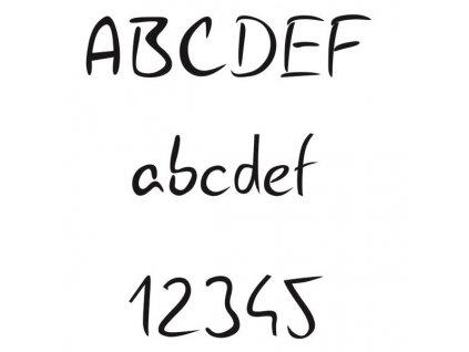 Handwritting pískování textu