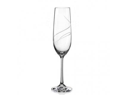 Crystalex broušená sklenice na sekt broušené sklo