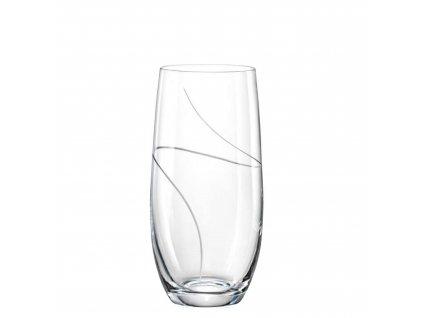 Crystalex sklenice club 350 ml broušené sklo