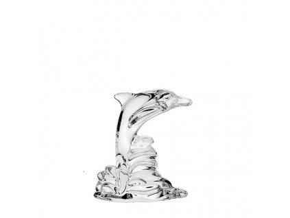 crystal bohemia skleněná figurka delfína