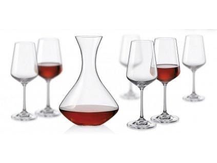 Sandra set 1+6 karafa a sklenice na víno