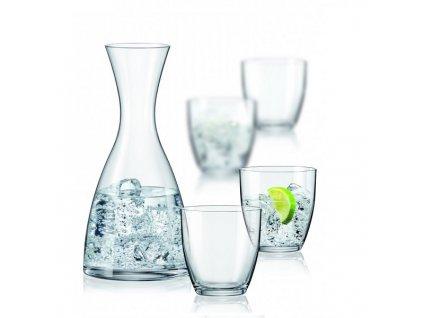 Crystalex WATER SET karafa a sklenice na vodu (1+4)