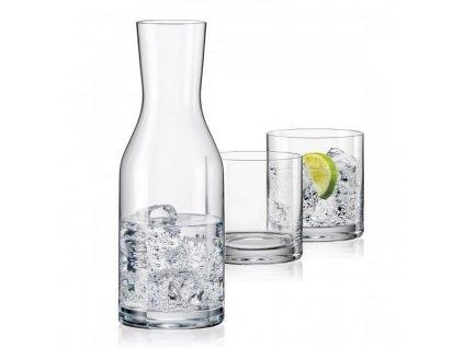 Crystalex WELLNESS SET karafa a sklenice (1+2)