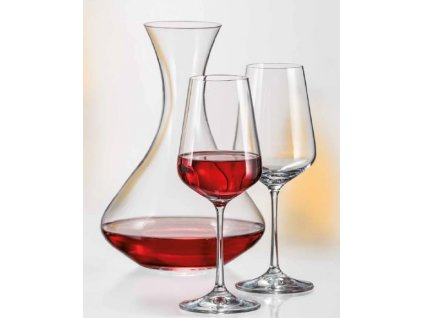 Crystalex SANDRA set karafa a skleničky na víno (1+2)
