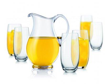 Crystalex LEMONADE set skleněný džbán a sklenice (1+6)