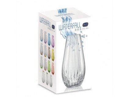 Crystalex Skleněná váza WATERFALL 305 mm