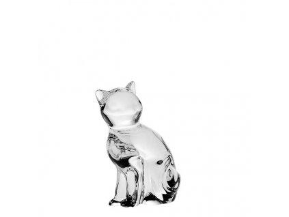 skleněná figurka kočka
