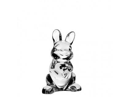 Crystal bohemia skleněná figurka zajíčka