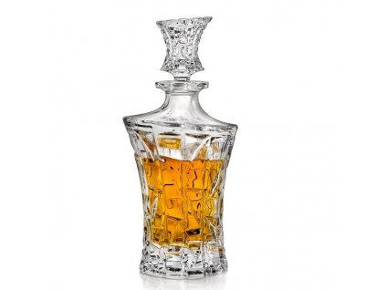 crystal bohemia karafa na whisky patriot 0,7 l